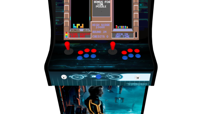 Classic Upright Arcade Machine - TRON Theme - buttons