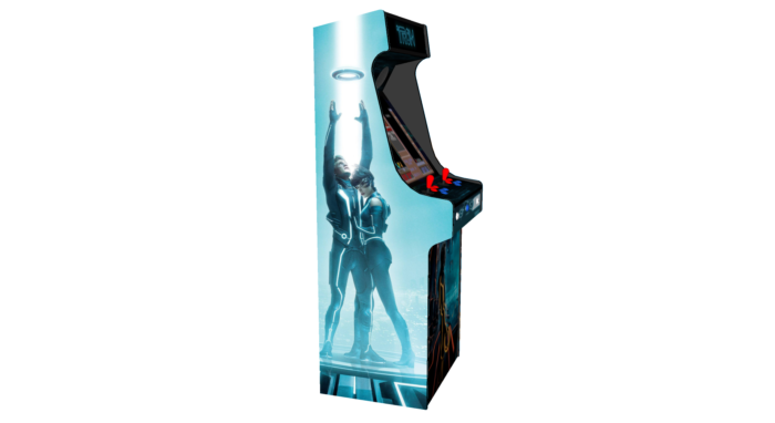 Classic Upright Arcade Machine - TRON Theme - left