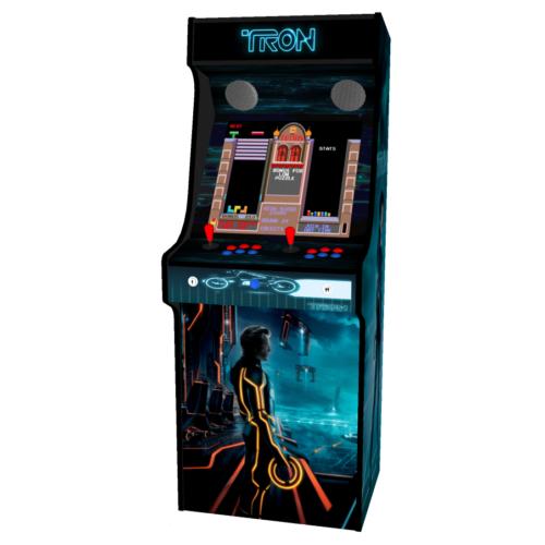 Classic Upright Arcade Machine - TRON Theme - middle