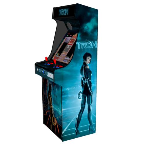 Classic Upright Arcade Machine - TRON Theme - right