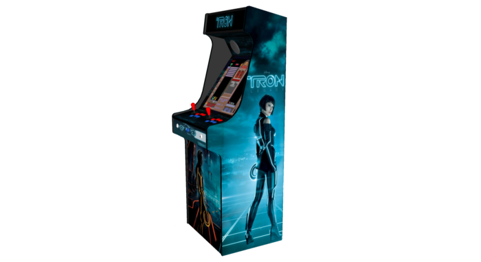 Classic Upright Arcade Machine - TRON Theme - right
