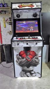 Upright Arcade Machine Street Fighter 5 black and white Theme (5)