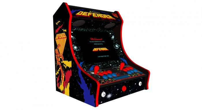 Classic Bartop Arcade Machine with 619 Games Defender theme - Left