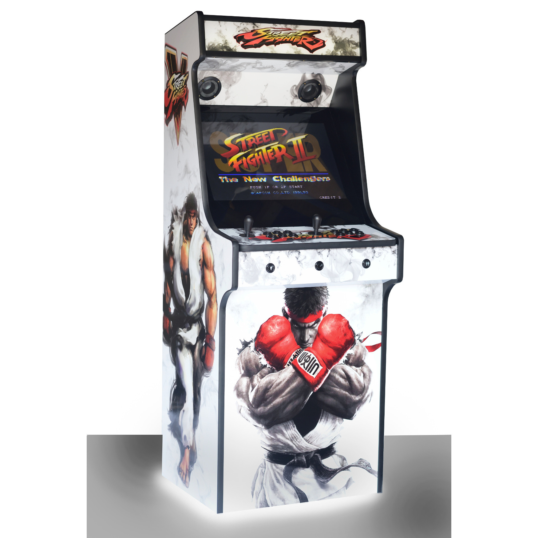 Classic Upright Arcade Machine - Street Fighter 5 Theme - Left Side