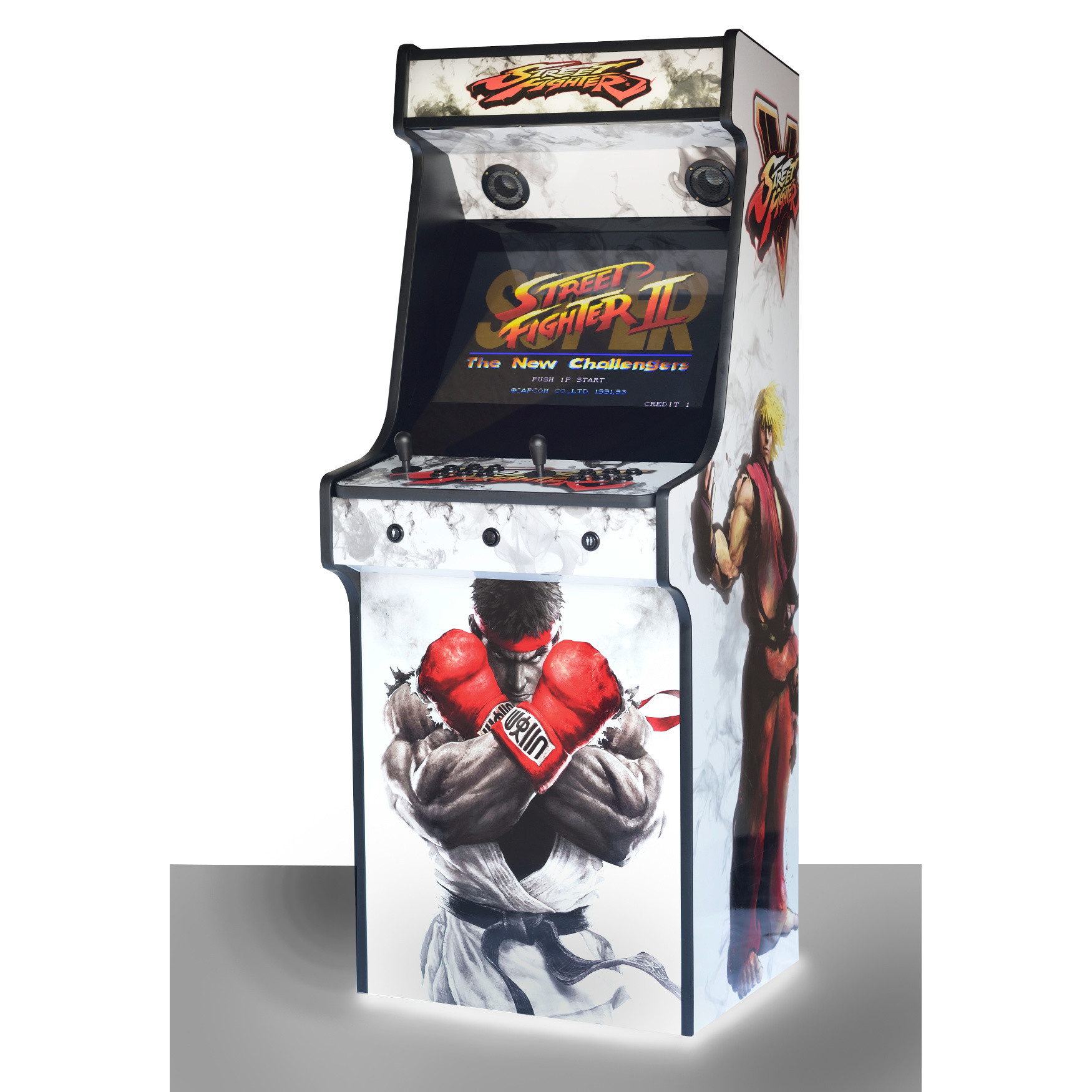 Retro Upright Arcade Machine 520 Games Street Fighter 5