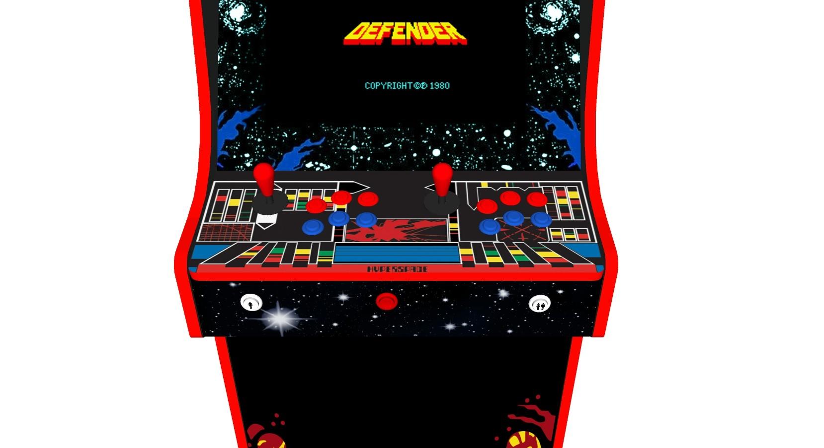 Defender Arcade Machine 2 Player Upright - Buttons