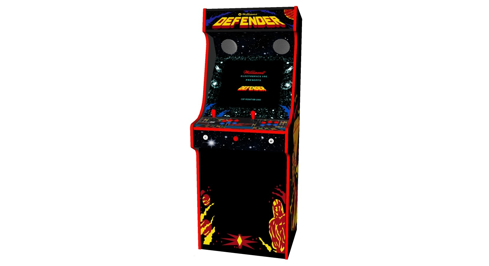 Defender Arcade Machine 2 Player Upright - Middle