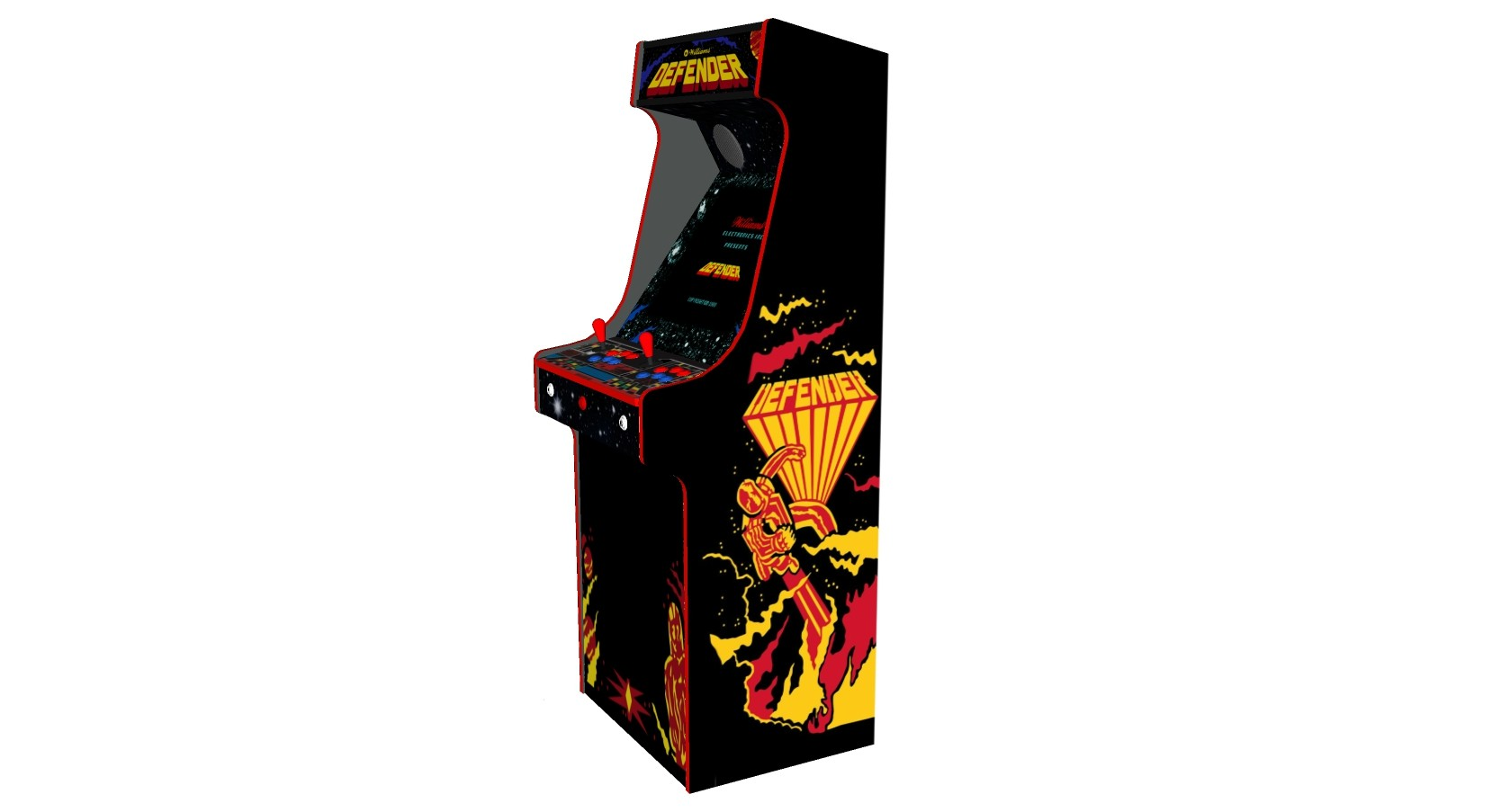 Defender Arcade Machine 2 Player Upright - Right
