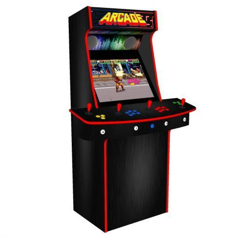 Multicade Upright 4 Player Upright Arcade Machine - Left