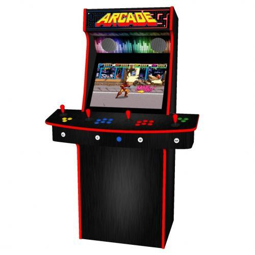 Multicade Upright 4 Player Upright Arcade Machine - Middle