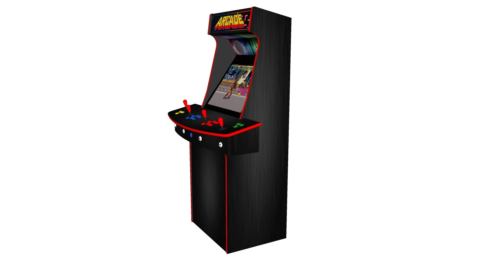 Multicade Retro Upright 4 Player Classic Arcade Machine