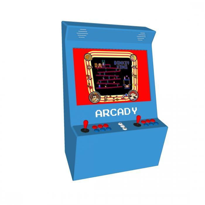 Wall Arcade machine with 815 Games Blue Design