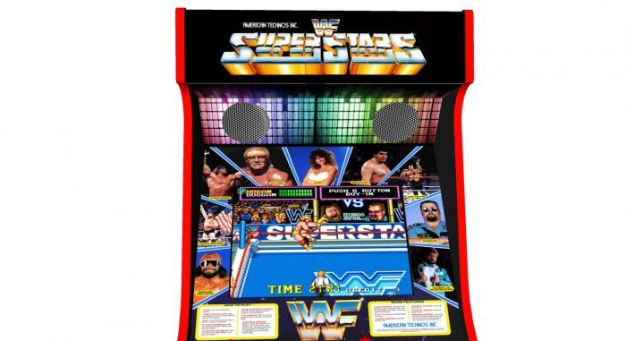 WWF Superstars Classic Upright Arcade Machine - top