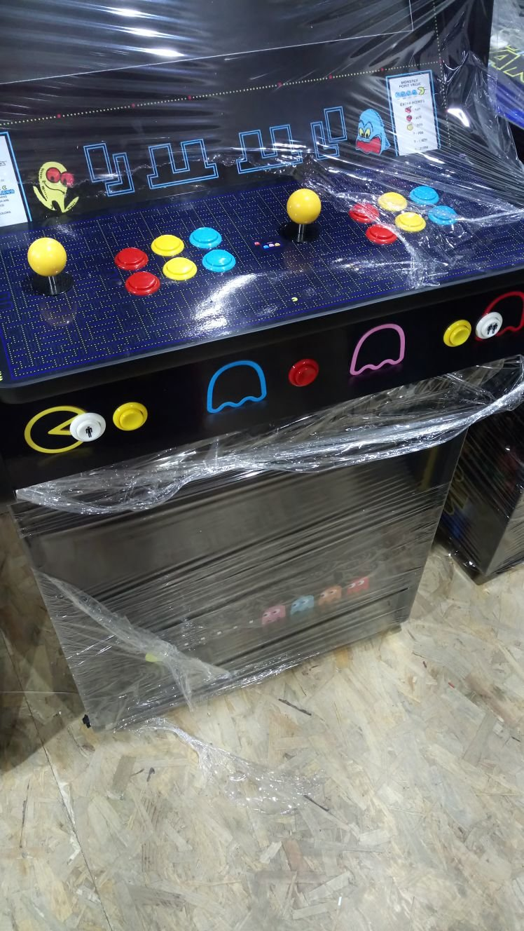 Classic Upright Arcade Machine - PacMan Theme - V2 - retropi 15000 games subwoofer buttons wrapped
