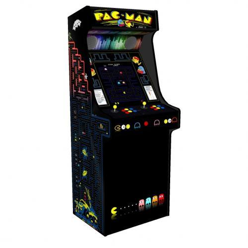 Classic Upright Arcade Machine - PacMan Theme - V2 - retropi 15000 games subwoofer left