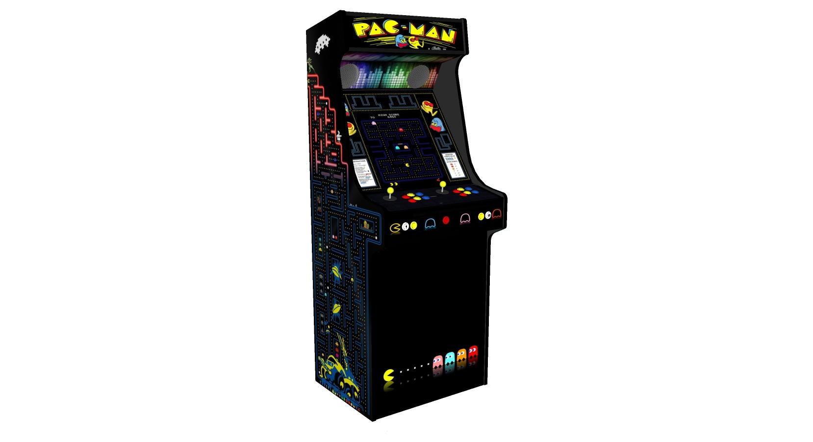 Classic Upright Arcade Machine - PacMan Theme - V2 - retropi 15000 games subwoofer left