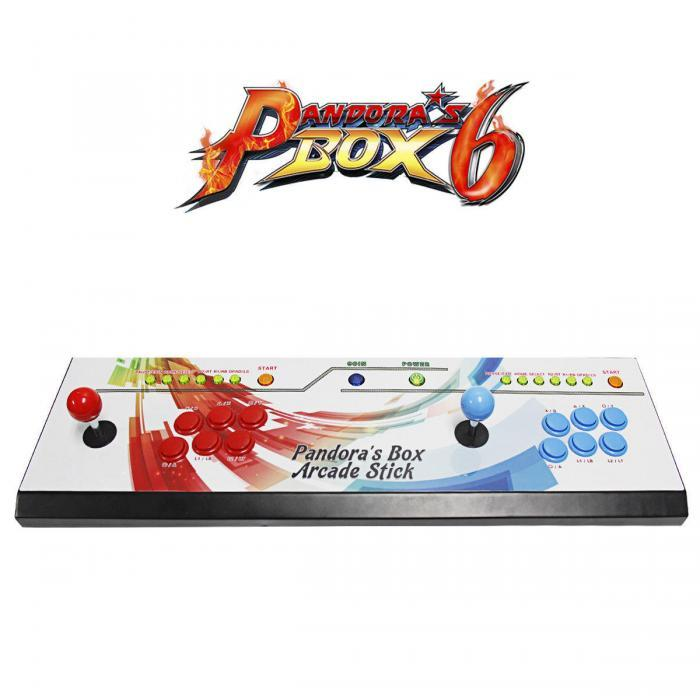 Pandoras Box 6 - 2in1 Fightstick and Arcade Console with 1300 games - main pb6