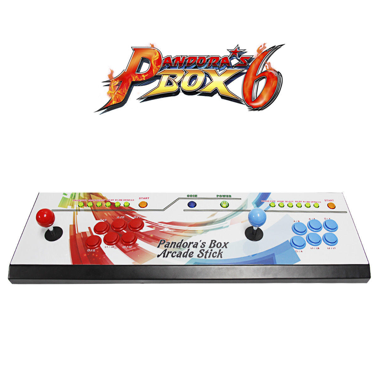 New Pandoras Box 6-2in1 Fightstick and Arcade Console with 1300 games -  arcadecity