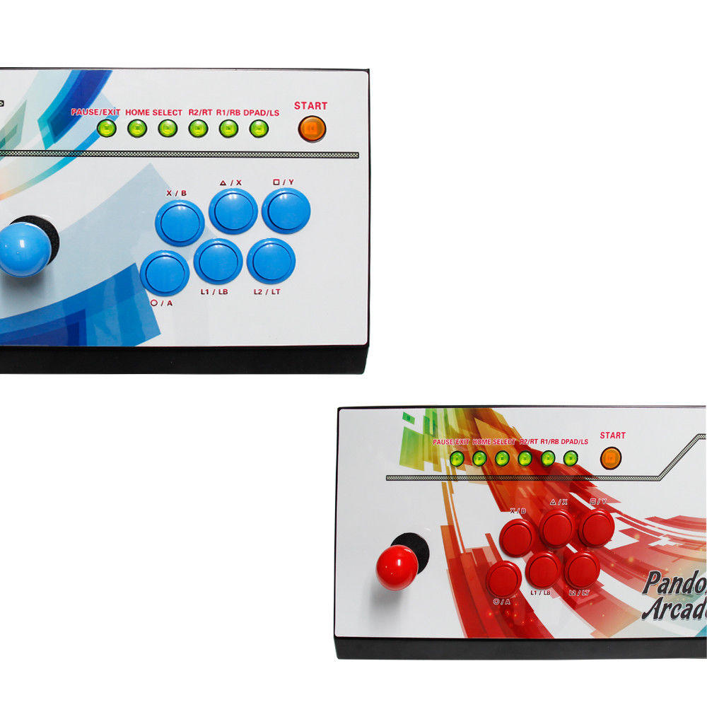 Pandoras Box 6 -2in1 Fightstick and Arcade Console with 1300 games - players