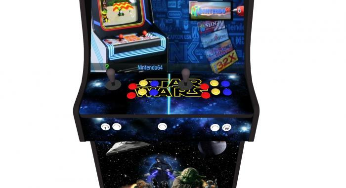 Star Wars Upright Arcade Machine, 15,000+ Games, 24 Inch Screen, Subwoofer, RGB LEDs RetroPI, American Style Illuminated Buttons - Buttons