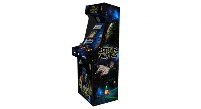 Star Wars Upright Arcade Machine, 15,000+ Games, 24 Inch Screen, Subwoofer, RGB LEDs RetroPI, American Style Illuminated Buttons - Right