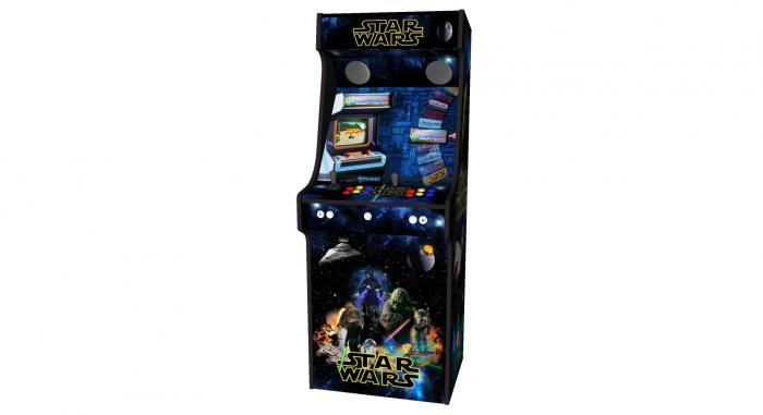 Star Wars Upright Arcade Machine, 15,000+ Games, 24 Inch Screen, Subwoofer, RGB LEDs RetroPI, American Style Illuminated Buttons - middle