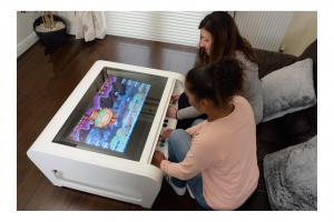 Modern Coffee Table Style Arcade Machine With 960 Plus Games - 2 player side