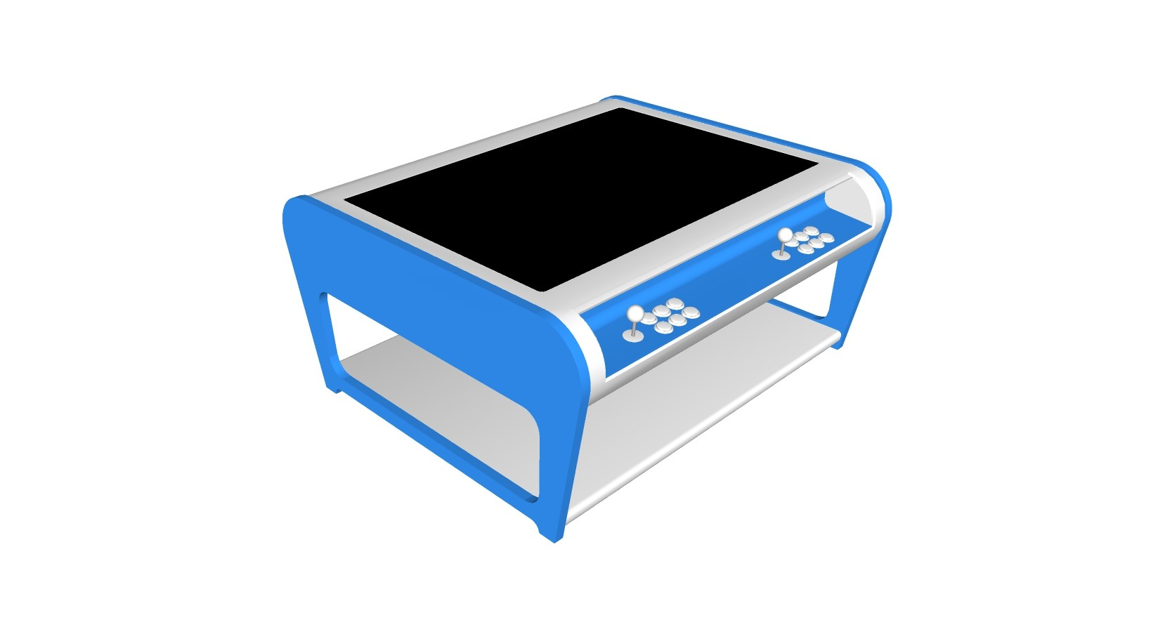 Modern Coffee Table Style Arcade Machine With 960 Plus Games - blue