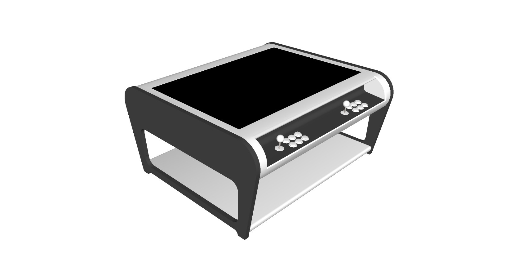 Modern Coffee Table Style Arcade Machine With 960 Plus Games - gray
