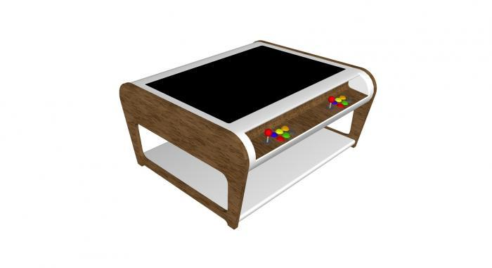 Modern Coffee Table Style Arcade Machine With 960 Plus Games - oak