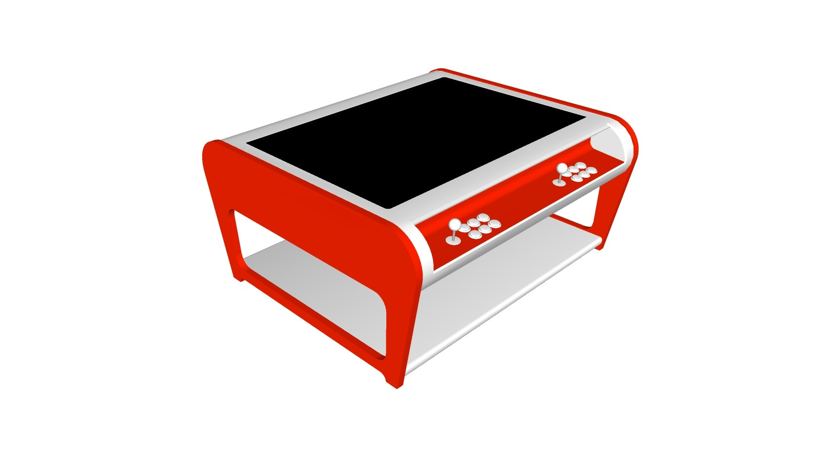 Modern Coffee Table Style Arcade Machine With 960 Plus Games - red