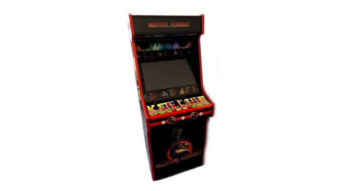 Classic Upright Arcade Machine - Mortal Kombat theme - v4 - front photo