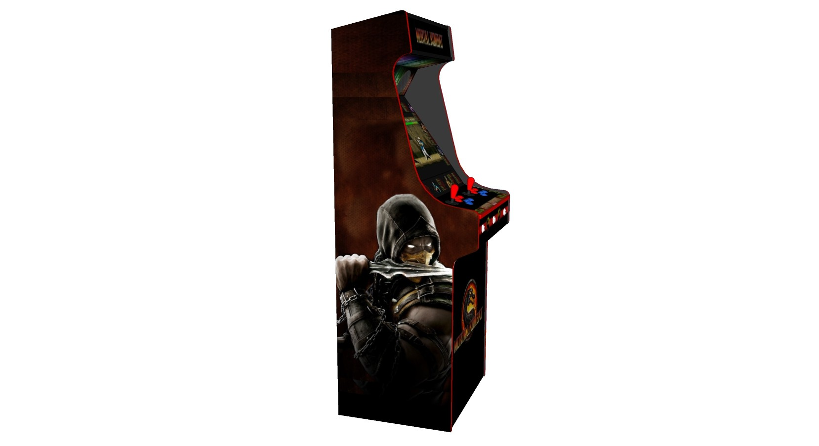 Mortal Kombat Artwork, Upright Arcade Machine, 815 games, Subwoofer, RGB  LEDs