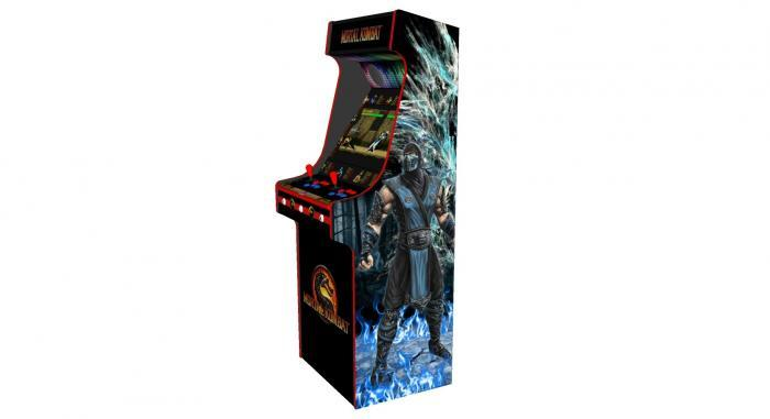 Classic Upright Arcade Machine - Mortal Kombat theme - v4 - right