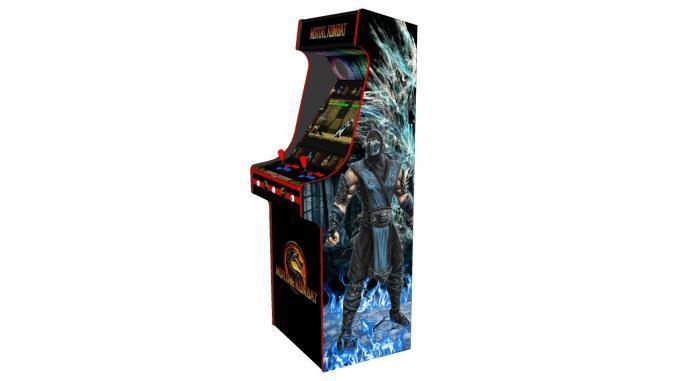 Classic Upright Arcade Machine - Mortal Kombat theme - v4 - right