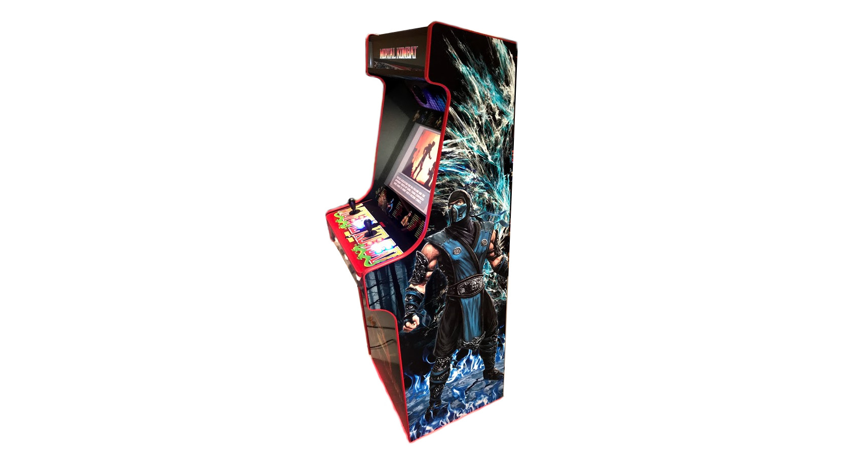 Classic Upright Arcade Machine - Mortal Kombat theme - v4 - right photo