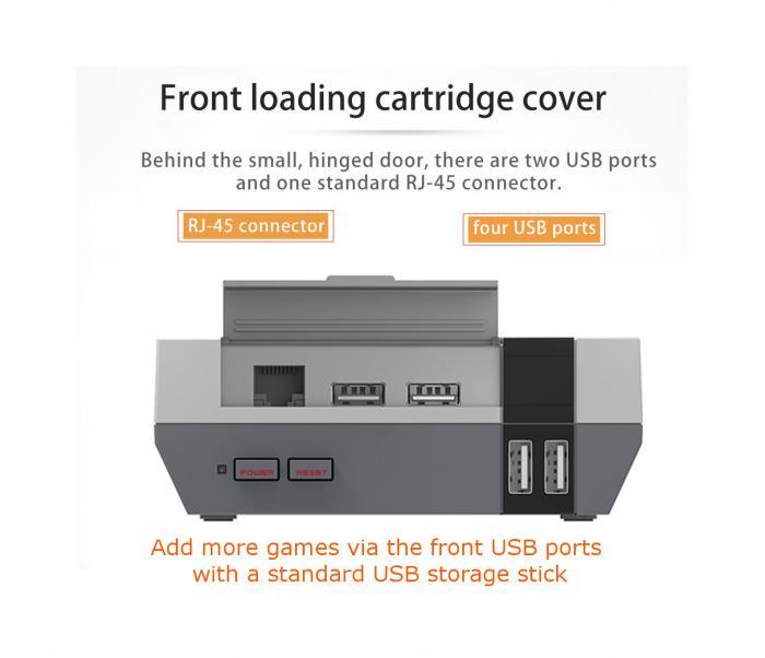 NES Inspired Game Box with 15000 plus games with 4 USB Ports and RJ45 Slot