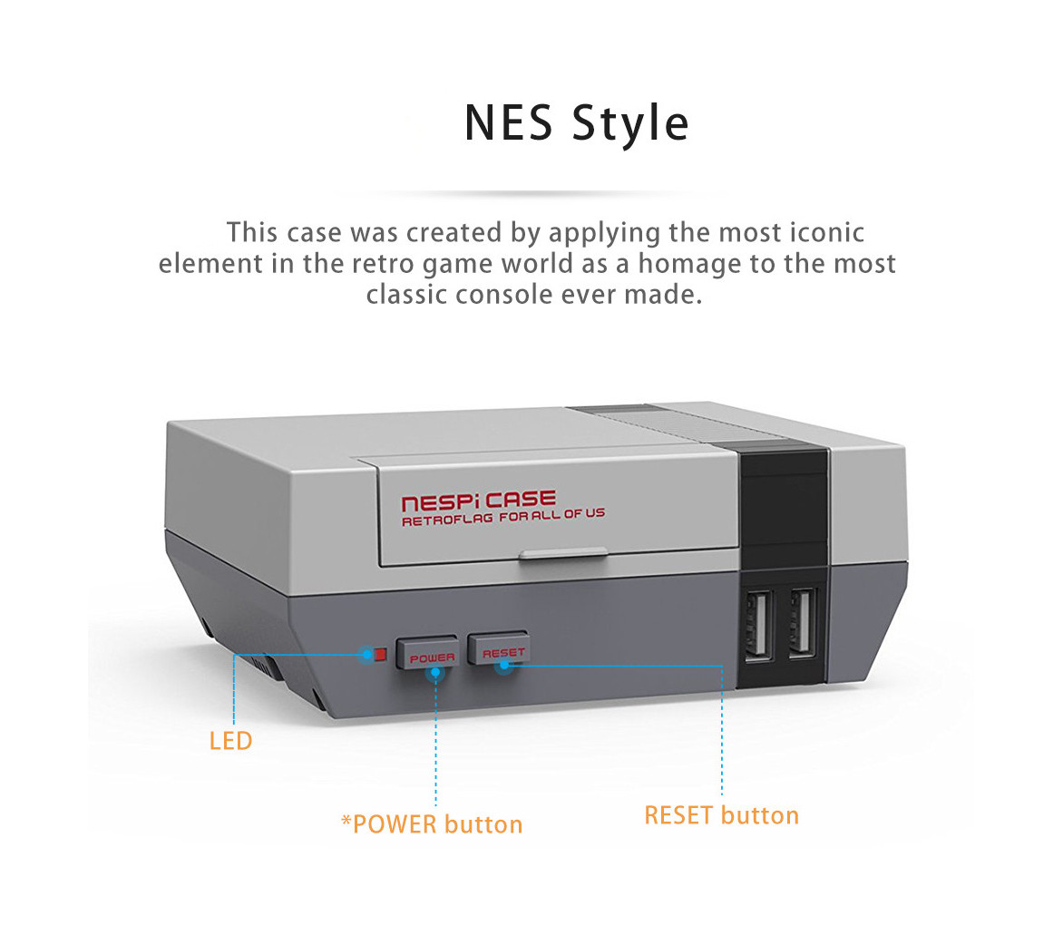 NES Inspired Game Box with 15000 plus games with Front USB Slots