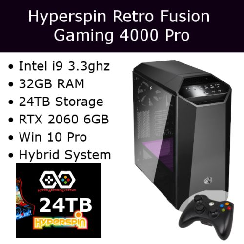 Hyperspin Pre-configured Gaming Machine – Retro Fusion 4000 Pro