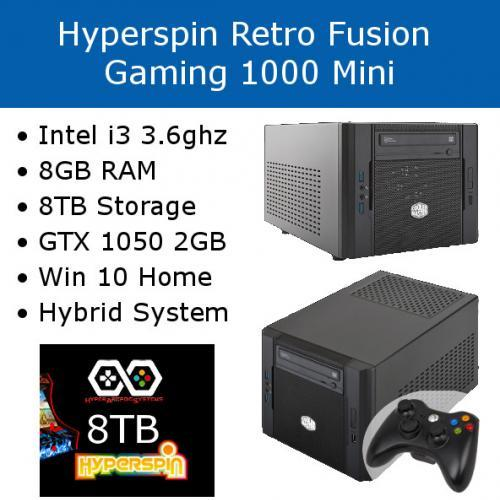 Hyperspin Preconfigured Gaming Machine – Retro Fusion 1000 Mini