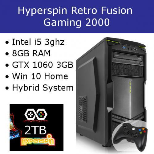 Hyperspin Preconfigured Gaming Machine – Retro Fusion 2000
