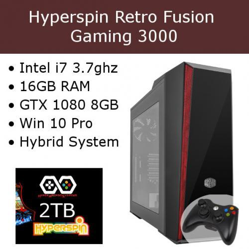 Hyperspin Preconfigured Gaming Machine – Retro Fusion 3000