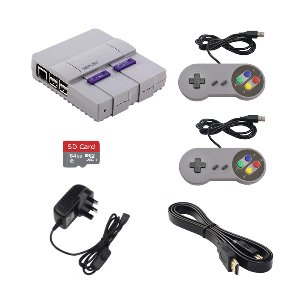 SNES Inspired Game Box with 15000 plus games accessories