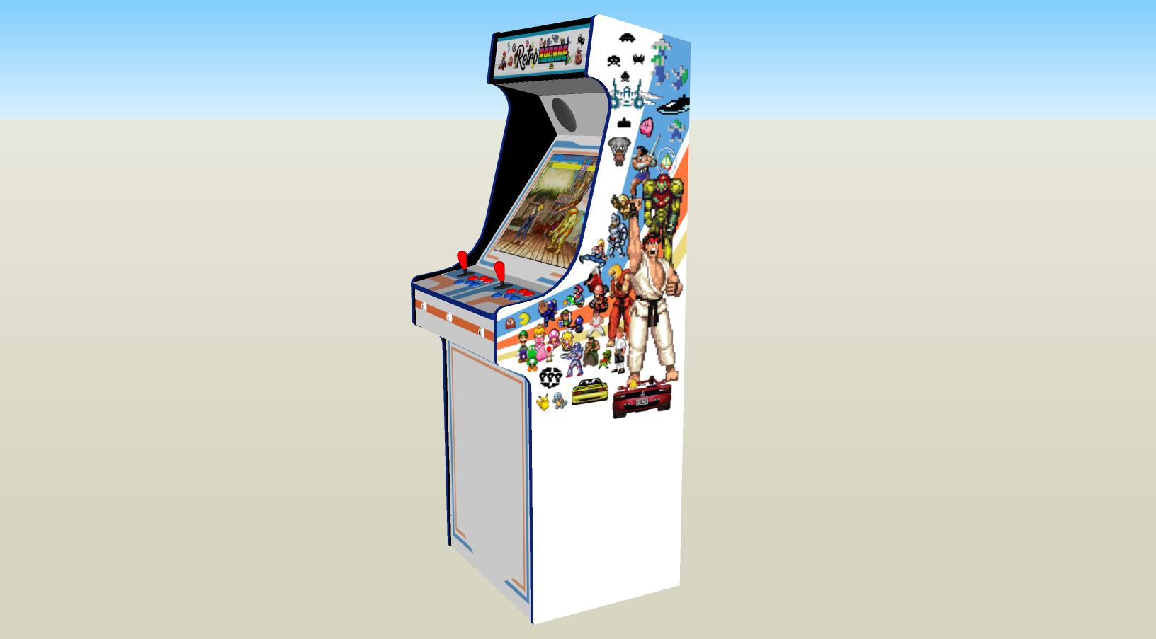 Retro Mash Arcade Machine with 1300 games, 100w subwoofer - middle