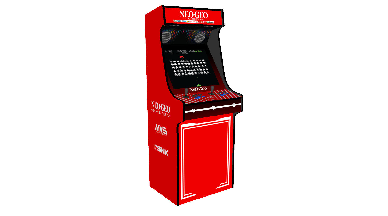 Classic-Upright-Arcade-Machine-NEO-GEO-Theme-100w-subwoofer-24-inch-screen-left