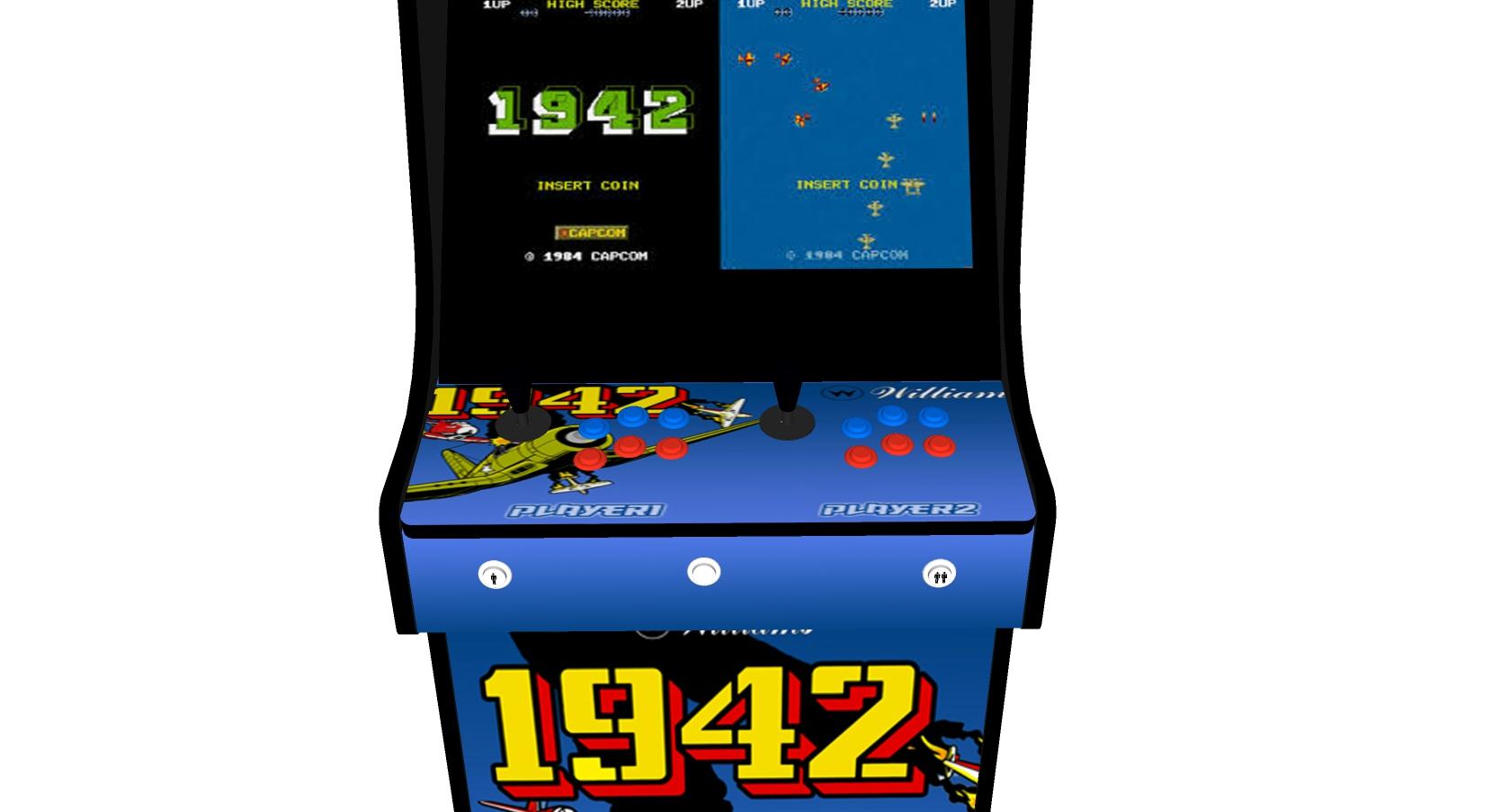 Classic Upright Arcade Machine - 1942 Theme - Buttons