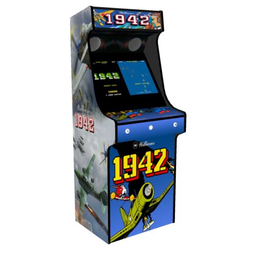Classic Upright Arcade Machine - 1942 Theme - Left