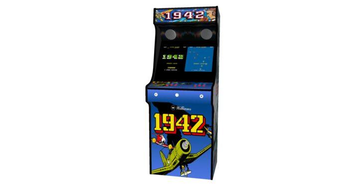 Classic Upright Arcade Machine - 1942 Theme - Midde