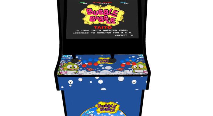 Classic Upright Arcade Machine - Bubble Bobble Theme - Buttons