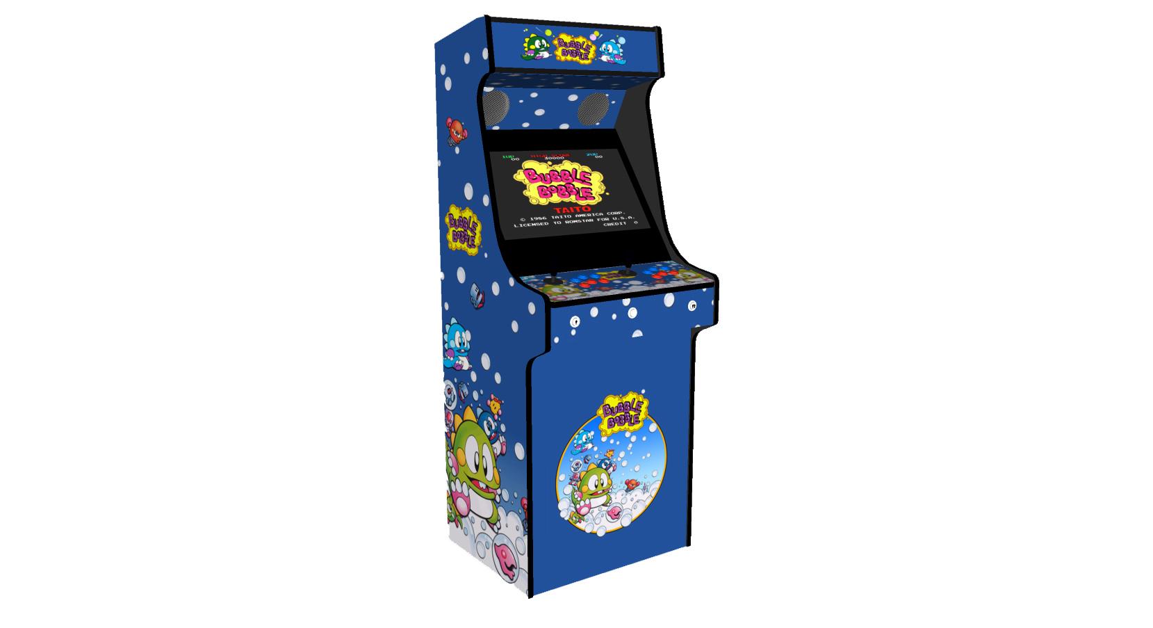 Classic Upright Arcade Machine - Bubble Bobble Theme - Left